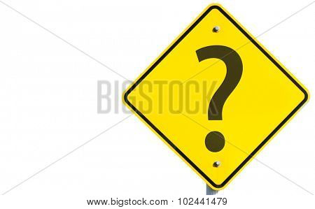 Questions Marks sign isolated on white background