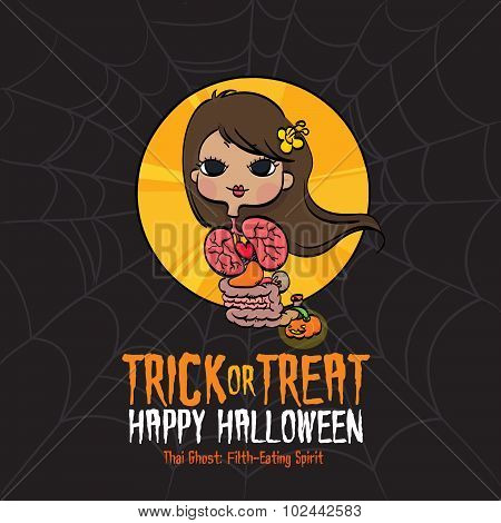 Halloween Trick or Treat Thai Ghost
