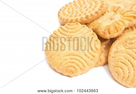 Some Tasty Cookies On White