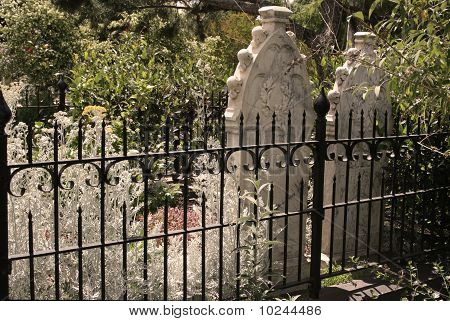 Old Time Headstone in Gate