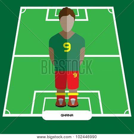Computer Game Ghana Football Club Player