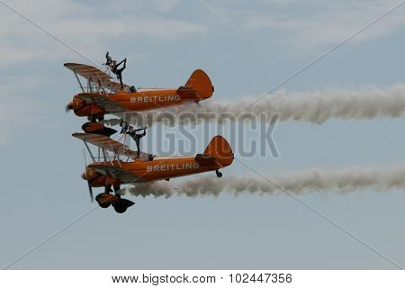 Breitling Wingwalkers At Airbourne 2015