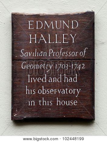 Edmund Halley Plaque