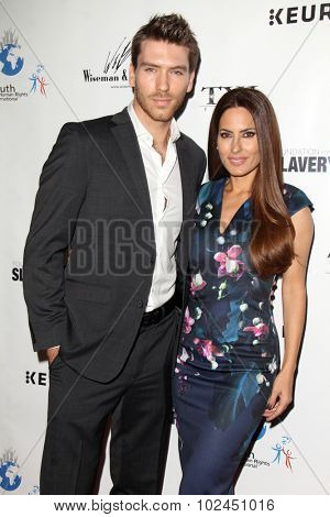 LOS ANGELES - SEP 21:  Jesse Kove, Kerri Kasem at the The Human Rights Hero Awards at the Beso on September 21, 2015 in Los Angeles, CA