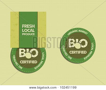 Stylish Farm Fresh CD and DVD disc templates with box, ecology logo. Organic, eco, bio. Mock up desi