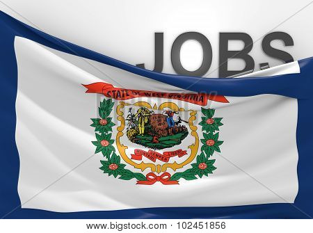 West Virginia jobs and employment opportunities concept