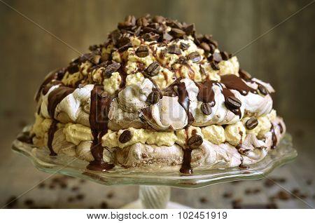 Homemade Chocolate Cake Pavlova.