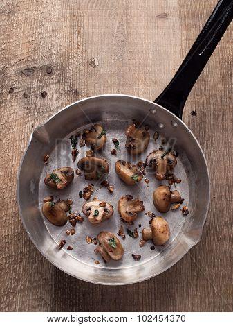 Rustic Pan Sauteed Mushroom