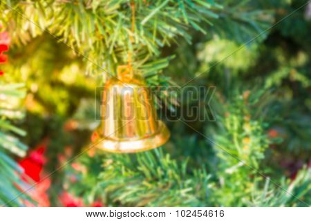 Blur Christmas Tree And Ornament