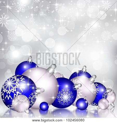 Best elegant Christmas background with baubles