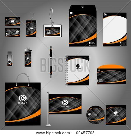 Stationery set design, Stationery template, Corporate identity design vector