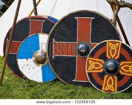 Old Viking Wooden Shields