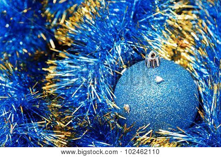 Christmas Blue Bauble