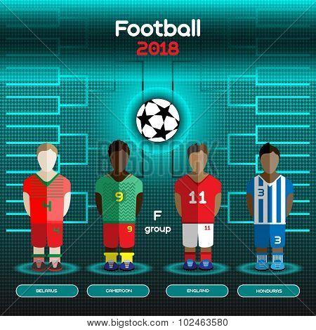 World Cup Team Scoreboard. Belarus, Cameroon, England, Honduras.