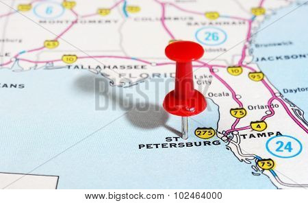St. Petersburg  Usa Florida  Map