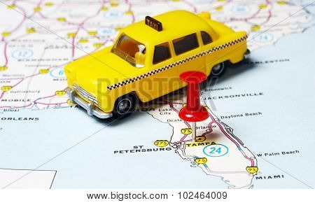 Miami  Usa Map Taxi