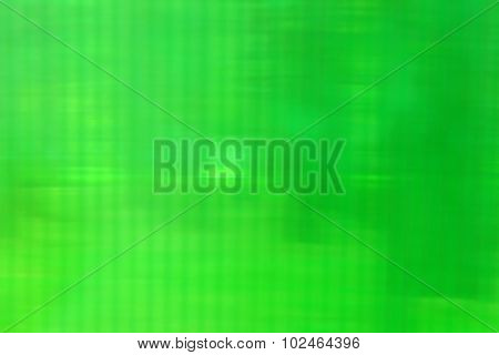 Abstract Plastic Green Texture With Blurred Stripes