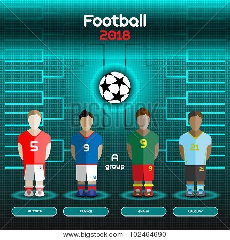 World Cup Team Scoreboard. Austria, France, Ghana, Uruguay.