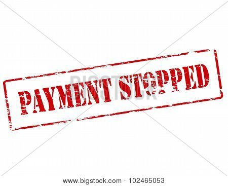 Payment stopped