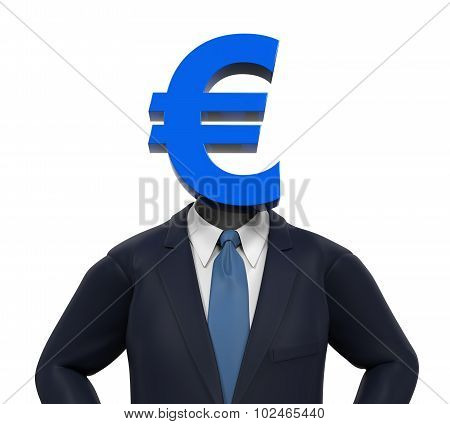 Man with Euro Symbol Head