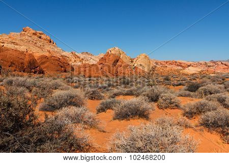 Creamy Red Rock Mountains In Valley Of Fire State Park
