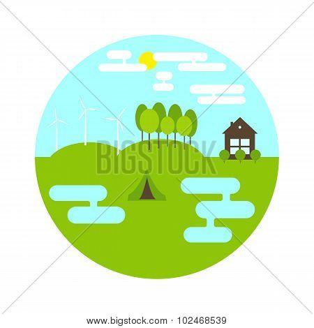 Round Landscape