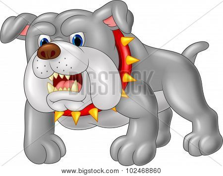 Cartoon guard dog house. vector illustration