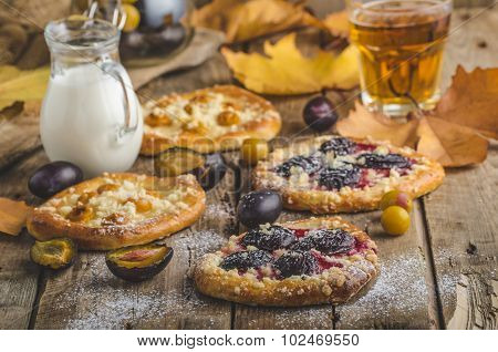 Traditional Czech Cake With Plums And Prunes