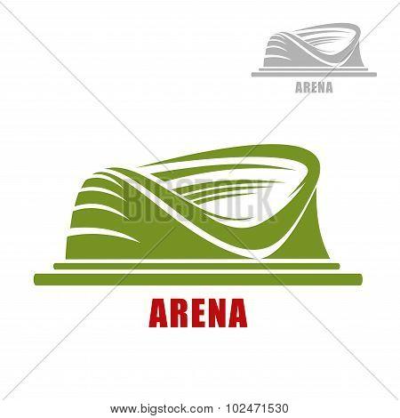 Round sport stadium or arena icon