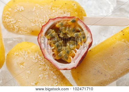 Passion Fruit  Popsicle Yummy Fresh Summer Fruit Sweet Dessert Still Life