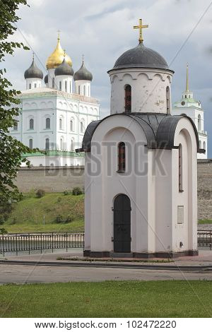 The chapel of St. Olga, Pskov, Russia