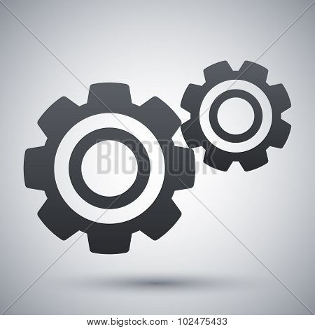 Vector Gears Or Settings Icon