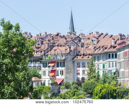 View On The Enchanting Old Town Of Bern, Switzerland