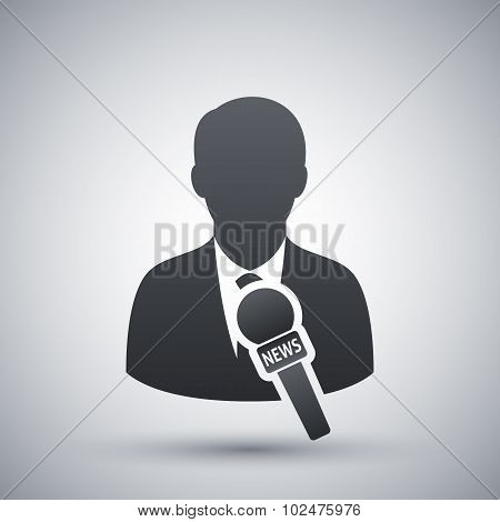 Vector News Reporter Icon