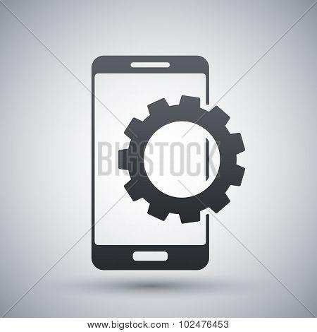 Vector Smartphone Settings Icon