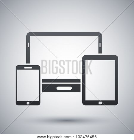Vector Smartphone, Tablet And Laptop Icon