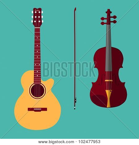 Violin and guitar 1