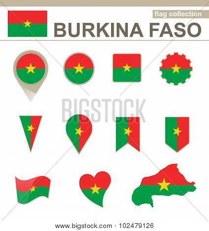 Burkina Faso Flag Collection