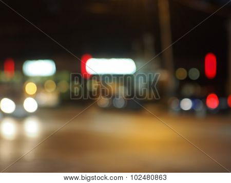 Abstract Night Scene On The Night The Traffic