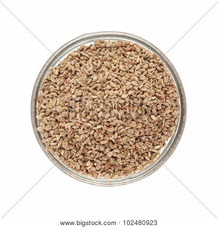 Bowl of Organic Ajwain.