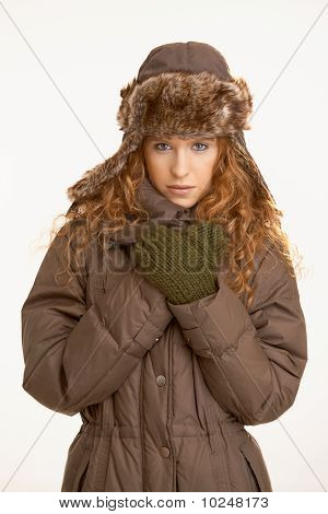 Attractive Girl In Winter Clothes