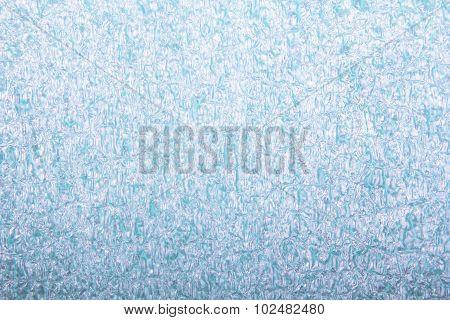 closeup of blue foam