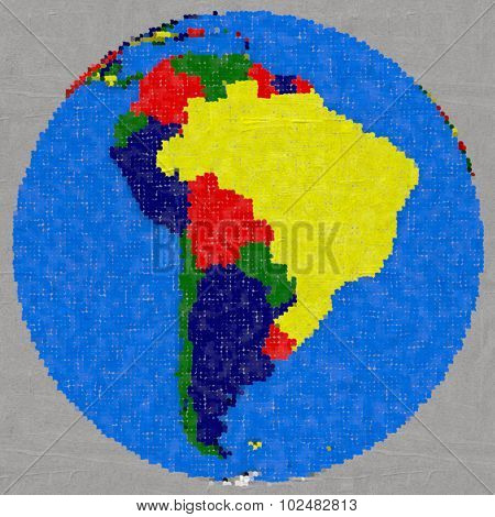 Drawing Of South America On Earth