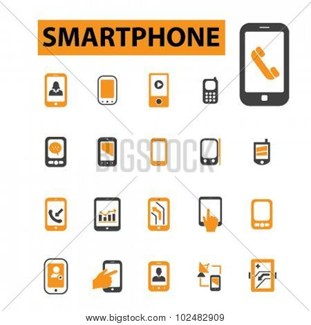 smartphone, mobile icons
