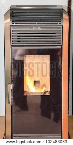 Modern Wood-burning Stove To Heat House