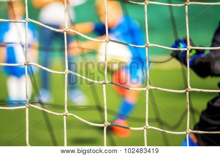 Kids Playing Soccer, Penalty Kick