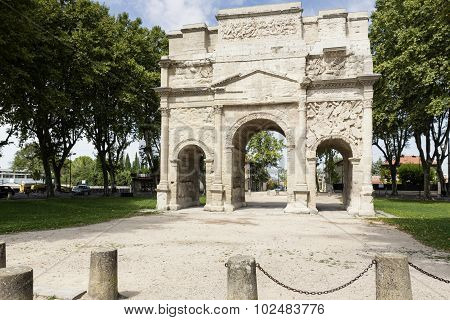 Arc de triumph in Orange city, South France
