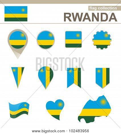 Rwanda Flag Collection