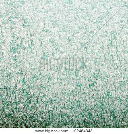 closeup of green foam