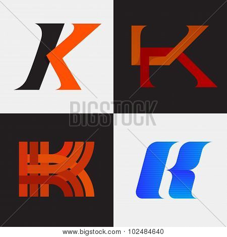 The set of letter K signs
